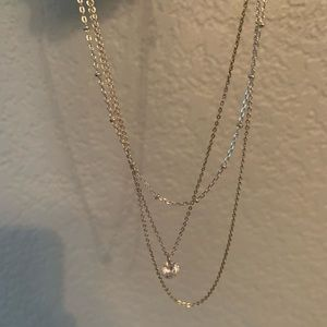 3 layered Necklace with Rhinstone